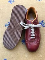 Hermes Womens Shoes Red Leather Trainers Sneakers UK 5.5 US 7.5 EU 38.5 Ladies