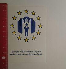 Aufkleber/Sticker: Europa 1992 Samen blijven (30121692)