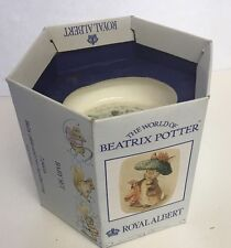 "Vintage Royal Albert ""Beatrix Potter"" 2 Pc Bone China Baby Set ~ Plate & Mug"