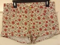 H&M SIZE 10 PINK WHITE SHORTS CUTE FLORAL PRINT