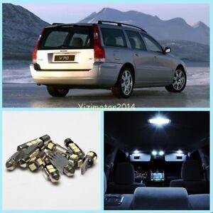 10Pcs Xenon White CANBUS Interior Light Package Kit For Volvo V70 MK2 2000-2007