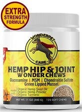 Hemp Hip & Joint Supplement for Dogs Organic Hemp Oil Chondroitin MSM 120 Chews