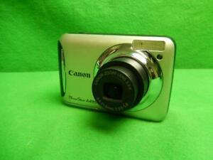 Canon PowerShot A495 10.0MP Digital Camera - Silver Tested and Working