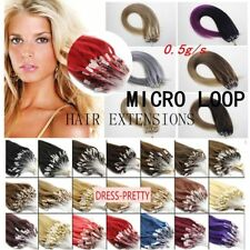 7A Thick Silicone Micro Ring Bead Loop Double Drawn Remy Human Hair Extensions
