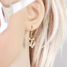 14k Yellow Gold Filled Eardrop Fashion Earrings With Zircon