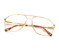 Vintage Hilton 540 1 Gold Pilot Eyeglasses Lunettes Optical Frame Brille Glasses