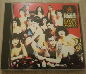 Die toten hosen-cd Love Peace N Money Japan Édition Vg++ 1994 (sticker)