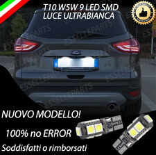 COPPIA LUCI TARGA A LED FORD KUGA MK2 T10 W5W BIANCO CANBUS NO AVARIA