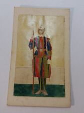 Pontifical Swiss Guard Photo Hand Painted in Oil Circa Mid 1800's Vatican