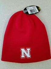 NWT Top of the World Adult NEBRASKA CORNHUSKERS Knit Cap WINTER Hat RED   31015