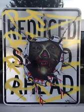 """RD357 """"DRACULA"""" graffiti sur panneau métal NYC - 61x76cm -cope2/seen/taki/futura"""