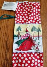 "Mary Engelbreit ""Magic of Christmas"" Bottle Gift Bag, Cloth Vintage 2000 - New"