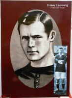 Heinz Ludewig + Fußball Nationalspieler DFB + Fan Big Card Edition B768