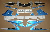 GSXR 600 SRAD 2000 complete decals stickers graphics kit set azul pegatinas logo