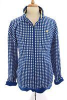 Ecko Unltd Mens Full Zip Up Jacket Gingham Checkered Blue Sz 2XL XXL