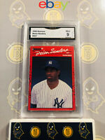 1990 Donruss Deion Sanders #427 - 9 MINT GMA Graded Yankees Baseball Card