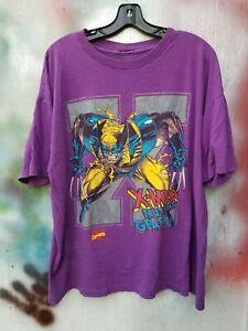 VTG Marvel Wolverine Shirt Comic Images X-men 1994 Gambit Mens Large Mutant Gear