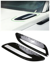 Black+silver Dummy Hood Vent Slat air wing trim For range rover Velar 2018 2019