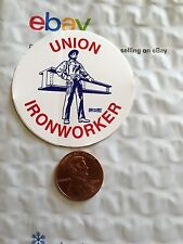Union Ironworker Organized Labor Union Hard Hat Sticker Decal I Beam