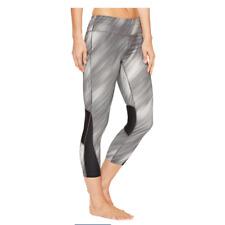 NIKE womens Power Racer Print Running Crop compression leggings pants S