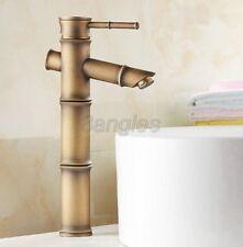 Vintage Retro Antique Brass Bamboo Shaped Bath Basin Mixer Tap Faucet 8nf096
