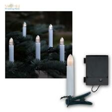 "LED Battery Fairy Lights ""Candles"" 16 LEDs Warm White Light Chain for Outdoor/Indoor"