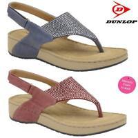Ladies Memory Foam Wedge Heel Walking Fit Flip Flops Fitness Toning Sandals Shoe