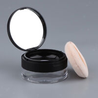 20g Loose Powder Box Container Powder Puff Case Makeup Cosmetic Jar & Mirror