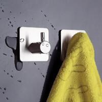 1pc Stainless Steel 3M Self Adhesive Sticky Hook Wall Rack Towel H Bathroom B8F2