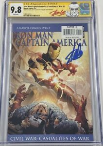 Marvel Iron Man Captain America #1 Signed by Stan Lee on Birthday CGC 9.8 SS