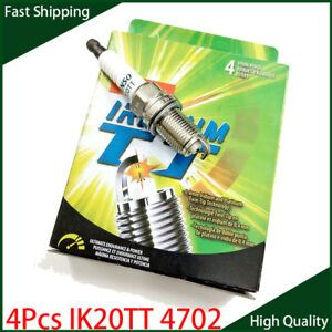 Set of 4 IK20TT 4702 Spark Plugs Iridium for Chevrolet Audi Mitsubishi Honda QC