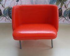 Jean Höfler Bank 60er/70er Jahre Möbel Puppenstube rot (1)
