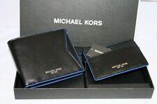 Michael Kors Black Sapphire Billfold Men's Wallet CC Box Set VALENTINE GIFT IDEA
