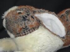 Walmart Easter Bunny Rabbit Laying Down Rust Cream Brown Lifelike Plush Stuffed