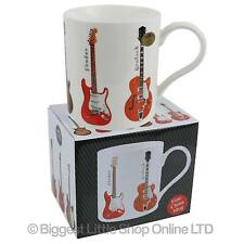 NEW Fine China Guitar MUG CUP by Leonardo Fender Gibson Les Paul Rock Band