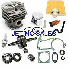 CYLINDER & PISTON CRANKSHAFT KIT FITS STIHL 034AV 034S  036 MS360 NIKASIL