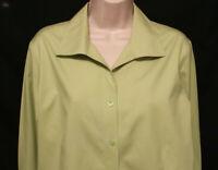 Chicos no iron khaki green LS blouse womens 2