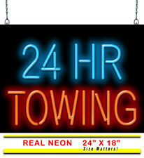 "24 Hr Towing Neon Sign | Jantec | 24"" x 18"" 