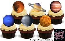 12 Novelty Solar System Planets Mix STAND UP Edible Cake Toppers Decorations Sky