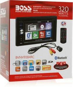 """NEW IN BOX! BOSS BVNV9384RC Double-DIN DVD Player 6.2"""" Touchscreen Navigation"""