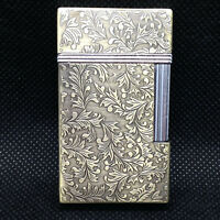 Broad Vintage Style Side Flint Lighter Ornate Design New Old Stock