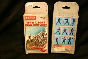 1:72 Andrea  WWII GERMAN U - BOAT DECK GUN  CREW   STOCK # S12-S02