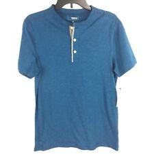 Sonoma Blue Short Sleeve Henley Button Shirt Mens size S NEW $30