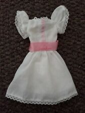 1984 My First Barbie Doll White Dress with Pink Ribbon