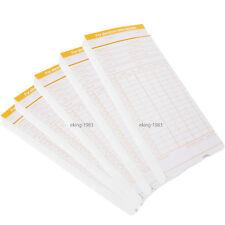 250 Stück Stempelkarten für Stempeluhr Stechuhr Monatlich Time Zeiterfassung