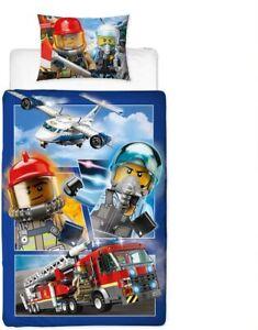 Lego City Single Duvet Cover Bedding Set Reversible Kids