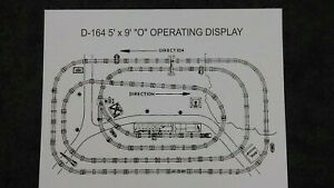 """LIONEL D-164 DEALER DISPLAY 5' x 9' """"O"""" OPERATING LAYOUT INSTRUCTION PHOTOCOPY"""