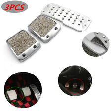 3PCS Aluminum Car SUV Foot Pedals Pad Clutch Brake Non-Slip Manual Footst Cover