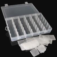 36 Kunststofffach Schmuck Einstellbare Organizer Aufbewahrungsbox Cases 27cm