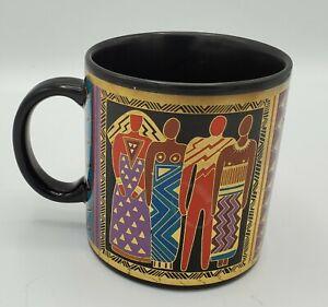 Laurel Burch Tribal Spirit Mug Vintage 1988 Sister Friend Unity Colorful